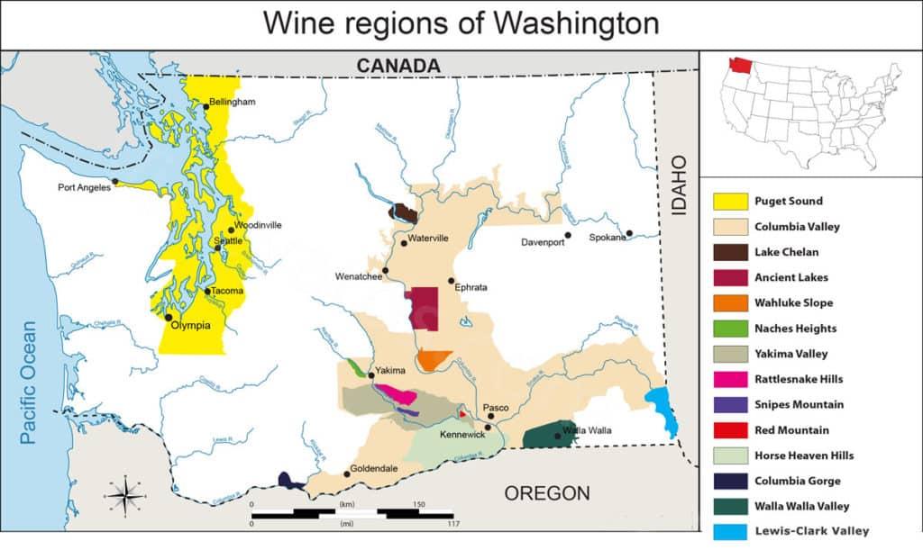 Washington State AVA Map