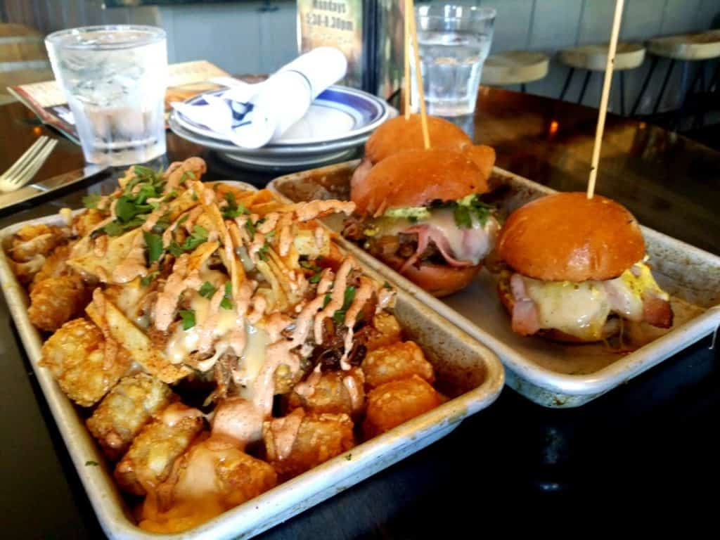Burgers and tater tots at Hollywood tavern and Woodinville breweries, WA