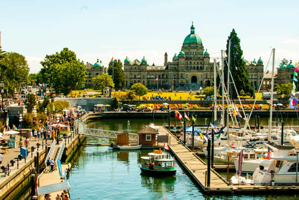 Victoria harbour Pacific Northwest Getaways