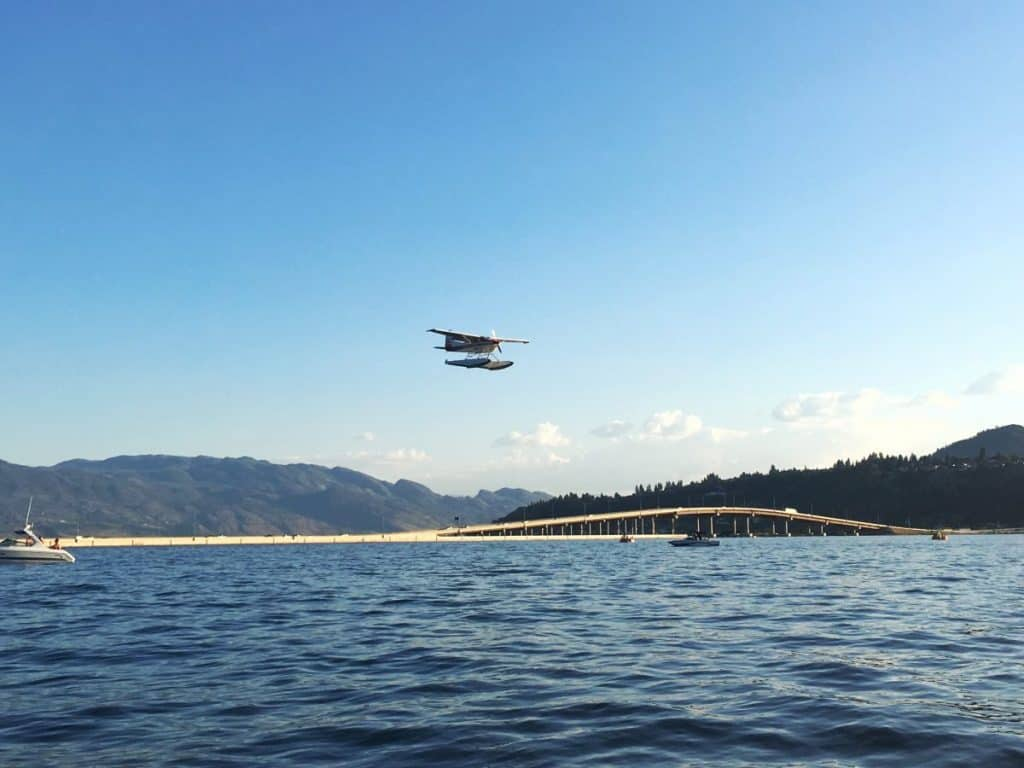 Seaplane landing on Okanagand Lake: Things to do in Kelowna