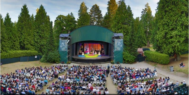 View of the Malkin Bowl stage in Stanley Park