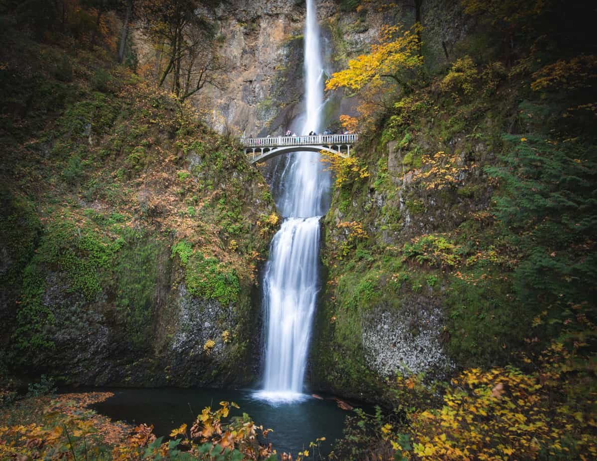 Multnomah Falls is one of the most beautiful places in Oregon