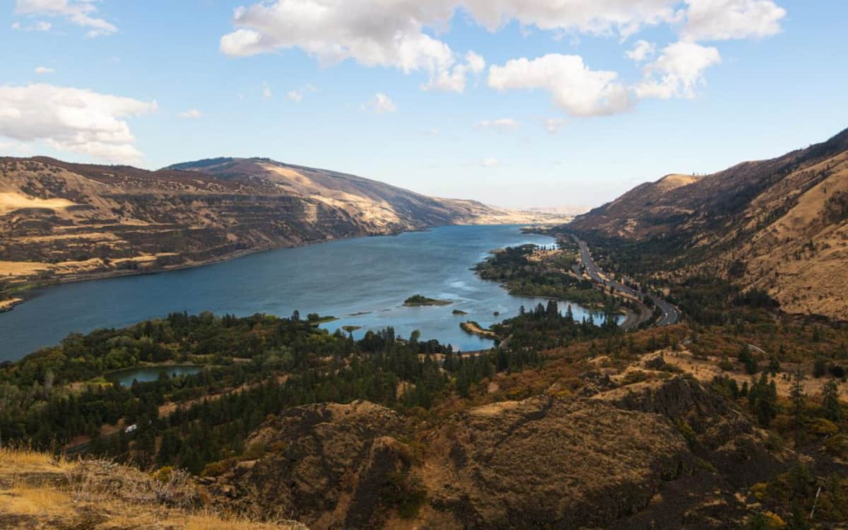 Columbia River Gorge in Oregon